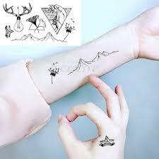 водонепроницаемая временная татуировка наклейка на ухо палец музыка примечание