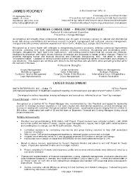Two page project manager CV template Job Resume Samples
