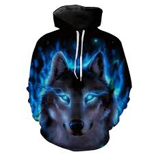 Wolf Design Sweatshirts Sondirane New Fashion Men Wolf Animal 3d Printed Hooded Hoodies Men Womens Shinning Wolf Design Sweatshirts 3d Harajuku Hoody