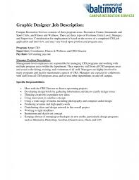 Graphic Designer Job Description Resume Free Resume Templates