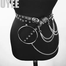 uni pu leather harness belts big o ring metal waist belt women leisure jeans chain buckle las strap garter lp 015 studded belt plus size garter belt