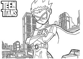 Small Picture Robin from Teen Titans coloring page Free Printable Coloring Pages