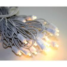 gki bethlehem lighting 50 warm white l wide angle xmas lights white wire x