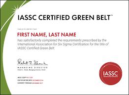 Iassc Lean Six Sigma Green Belt Exam Included Hudson