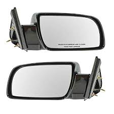Amazon.com: Manual Black Side Mirrors Left LH & Right RH Pair Set of ...