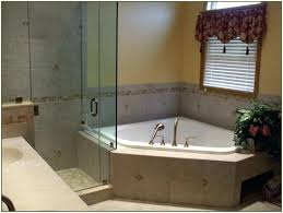 corner tub shower combo ideas small bathroom soaker bathrooms master with remarkable