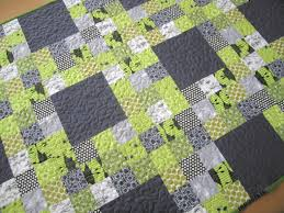 Nine Patch Lattice quilt by Elizabeth Hartman of Oh, Fransson ... & Nine Patch Lattice quilt by Elizabeth Hartman of Oh, Fransson! It's a super- simple nine-patch baby quilt x that you can make with just nine fat quarters  and ... Adamdwight.com