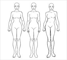 female body outline template body outline template 21 free word excel pdf format download