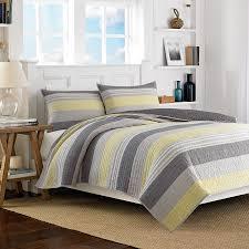 Nautica Bedroom Furniture Nautica Mondrian Gray Quilt Stripes Bedding Beddingstyle