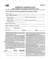 Sample Residential Lease Form 11 Free Documents In Doc Pdf - Round ...