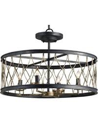 currey and company lighting fixtures. Currey Company 9902 French Black And Pyrite Bronze Finished Flush Mount With Chicken Wire Shades Lighting Fixtures