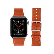 apple watch band 42 mm orange goat leather apple watch band 42 mm orange goat leather