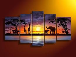 landscape wall art new 100 hand painted home decoration painting canvas painting high quality african landscape wall art