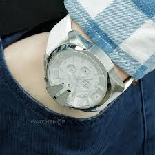 white leather strap watch diesel dz4292 men s mega chief diesel white leather strap watch diesel dz4292 men s mega chief