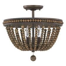 professional wood flush mount ceiling light austin allen co 3 semi 9a122a