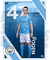 Manchester City FC 2020/21 Phil Foden A3 Fußball-Poster/Druck/Wandkunst,  offizielles Lizenzprodukt, erhältlich in den Größen A3 und A2 (A3) :  Amazon.de: Sport & Freizeit