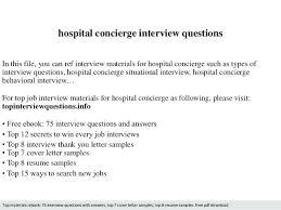 Concierge Resume Sample Resume Objectives Concierge Resume Objective