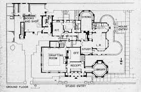 Frank Lloyd Wrightu0027s Plan For His House And Studio In 1889 Oak Frank Lloyd Wright Home And Studio Floor Plan