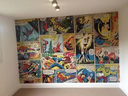 comic book wall art beautiful marvel ic wallpaper ronnie s bedroom 3 basement