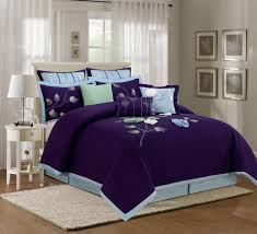 purple california king comforter sets with fl motif for bedroom decoration ideas