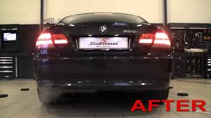 BMW E92 325I getting original BMW Performance exhaust - YouTube