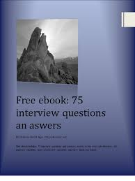 75 interview questions and answers ebook 1 0 by 4career net pdf