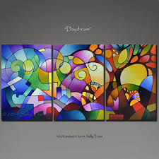 giclee prints from my original abstract painting original acrylic painting triptych painting geometric art abstract landscape painting inches