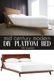 diy platform bed. Mid Century Modern DIY Platform Bed Diy