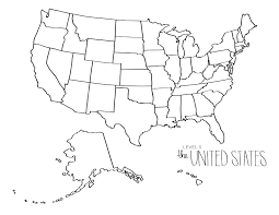 50 States Coloring Pages New United States Map Coloring Page Line