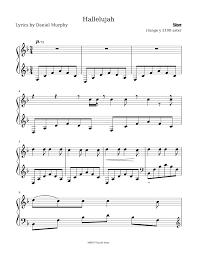 hallelujah piano sheet music hallelujah sheet music for piano musescore