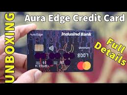 indusind aura edge credit card