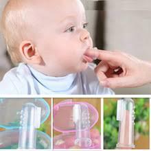 Детская зубная <b>щетка на</b> палец, <b>Силиконовая</b> зубная <b>щетка</b> + ...