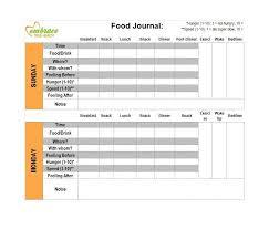 simple food log template 40 simple food diary templates food log examples