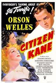 citizen kane  citizen kane poster showing two women in the bottom left of the picture looking up towards a man