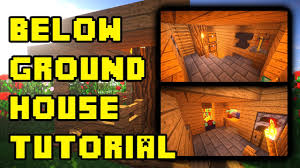 How To Make A Underground House Minecraft Underground House Base Design Ideas Build Tutorial