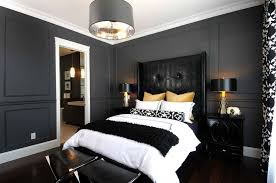bedroom with black furniture. Black Furniture: Interior Design Photo Ideas. Contemporary Style In The Bedroom With Leather Furniture