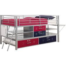 Locker Style Bedroom Furniture Junior Twin Silver Locker Collection Bed Walmartcom