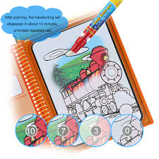 aliexpress 5 type water drawing book magic coloring book doodle with magic pen painting no ink drawing board educational kids toys from reliable