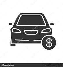 Automobile For Sale Sign Car Dollar Sign Glyph Icon Automobile Buying Sale Auto