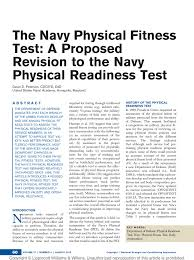 Pdf The Navy Physical Fitness Test A Proposed Revision To