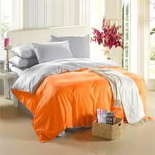 king size quilt orange grey color combine set