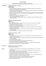 Shipping And Receiving Resume Examples Shipping Receiving Clerk Resume Samples Velvet Jobs 8