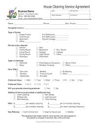 Service Agreement Samples Flooring Installation Contract Form Template House Cleaning