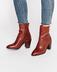 heeled ankle boots leather boots fearien darkbrown aldo womens innovating
