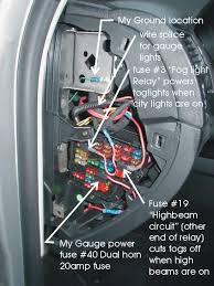 fogs dont switch off when tdiclub forums as weedeater stated you must use the fog light relay fuse location and one of the two high beam circuit fuse location to power the relay