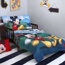 mickey mouse playhouse 4 piece toddler bedding set crib sets