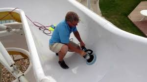 water slide polishing by solid water slide repair
