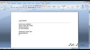 Ms Office Cover Letter Template How To Create A Cover Letter Template In Word Youtube