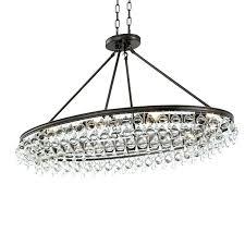 teardrop chandelier crystal chandeliers pottery barn calypso light vibrant bronze oval crystals acrylic b