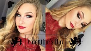 valentine s day makeup tutorial photoshoot vlog kaitlyn jones
